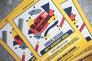 Back To School Bazaar Flyer