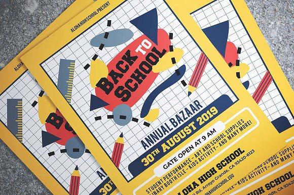 back to school bazaar flyer flyer templates creative market