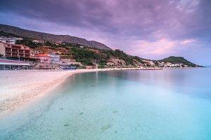 Beach view on adriatic sea