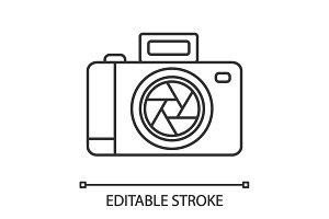 Professional photo camera icon