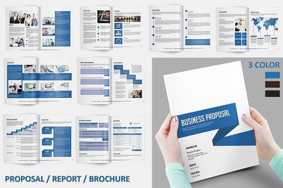 Business proposal v118 brochure templates creative market business proposal v118 brochures cheaphphosting Choice Image