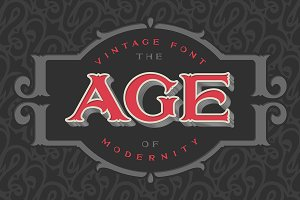 "VIntage font ""The age of modernity"""