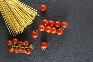 raw Italian long pasta