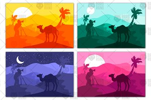 Photographer photographs camel