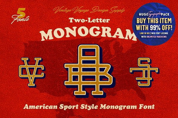Explore more than 640 Monogram Fonts ~ Creative Market