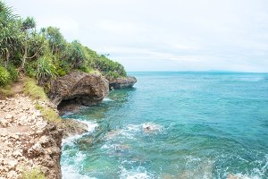 Idillic coral ocean coast with