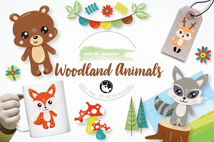 Woodland animals graphics