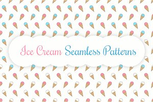Ice Cream Seamless Patterns