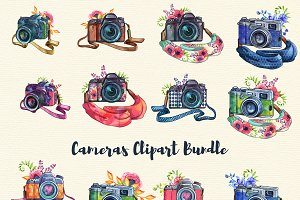 Cameras clipart Set - 31 elements
