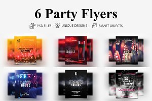 6 Party Flyers