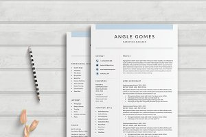 Resume Template 4 Page | Angle