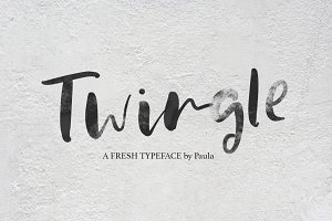 Twingle | Scrip + SVG Font