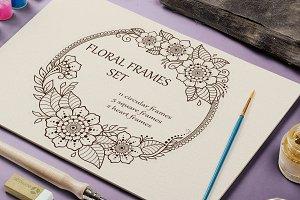 Floral frames set