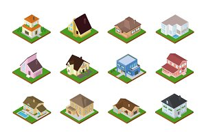 House vector isometric housing