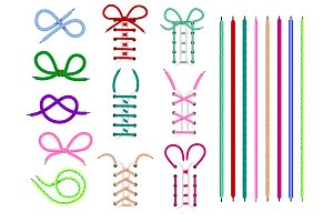 Shoelaces vector shoestring or shoe