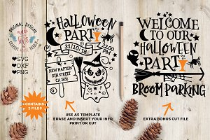 Halloween Party Template/ Cut File