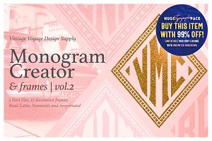 Diamond Monogram Creator & Frames