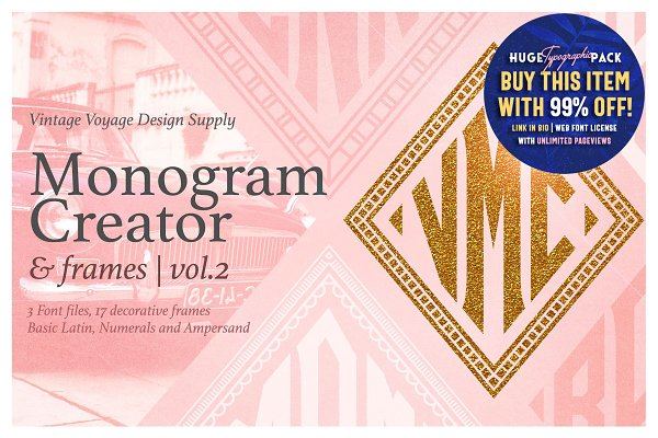 Diamond Monogram Creator & Frames