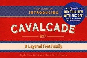 Cavalcade • Layered Font