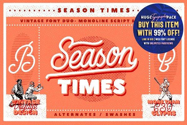 Season Times • Vintage Font Duo