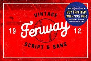 Fenway • Script & Sans + Bonus