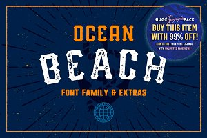 Ocean Beach • Five Fonts