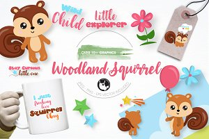 Woodland squirrel graphics