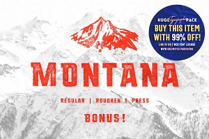 MONTANA • Font family + Freebies!