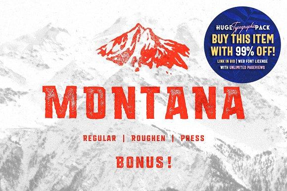 MONTANA • Font family + Freebies!