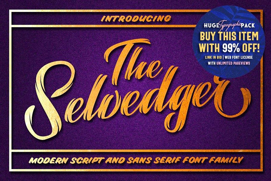 The Selvedger • Font Family