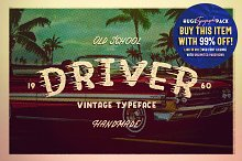 DRIVER • Retro action typeface