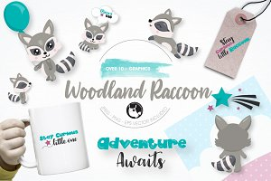 Woodland Raccoon graphics