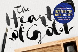 Heart of Gold • Brush Typeface