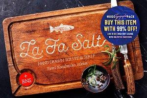 La Fa Salt • Cursive Script & Serif