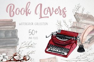 Book Lovers - watercolor set