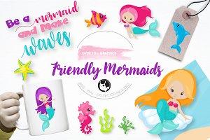 friendly Mermaid graphics