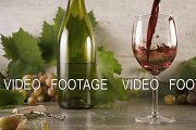 Slow motion wine is beautiful to