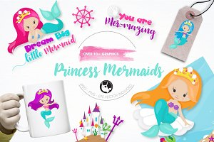 Princess mermaid graphics