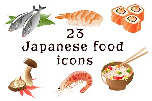 Japanese food icons