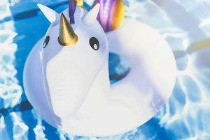 Unicorn in the swimming pool