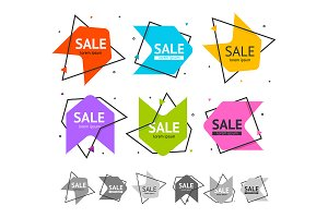 Sale Banner  Set. Vector