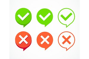 Color Checkboxes Signs Set. Vector