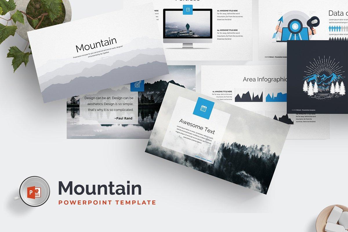 Mountain Powerpoint Template Presentation Templates Creative