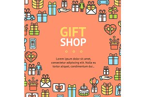 Present Gift Shop Round Design