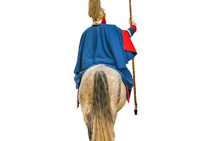 Royal Guardian Riding Horse Isolated
