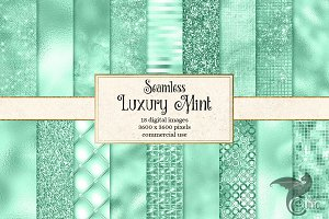 Luxury Mint Digital Paper
