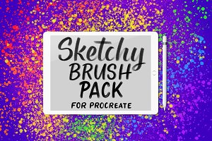 Sketchy Procreate Brush Pack
