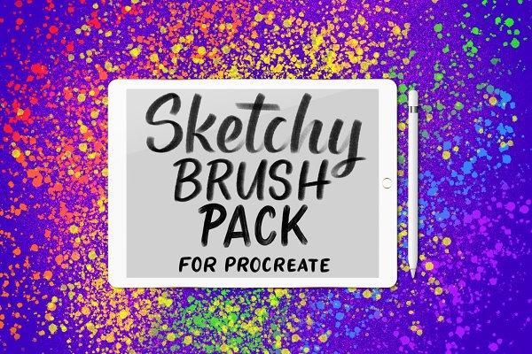 Sketchy Procreate Brush Pack
