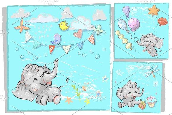Baby Elephants Birthday