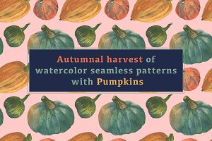 Seasonal watercolor seamless pattern